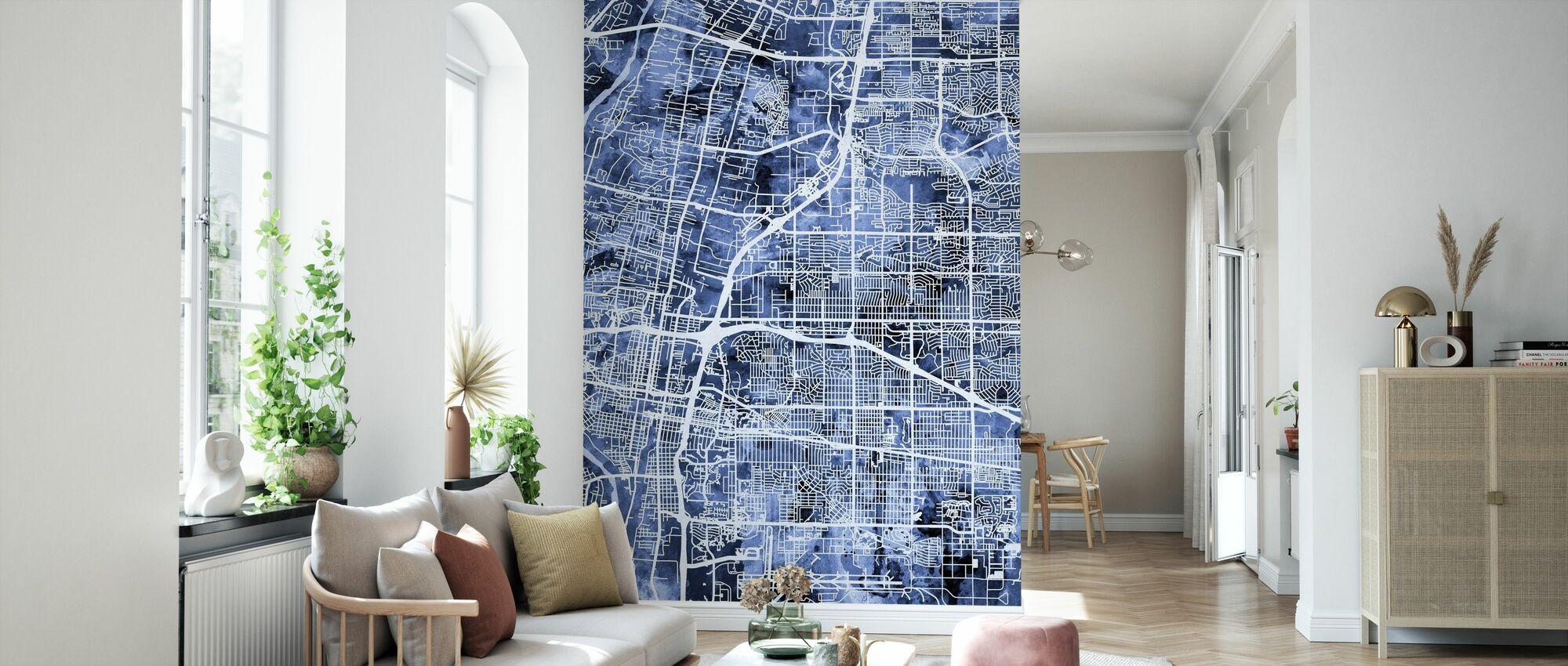 Albuquerque New Mexico City Street Map - Wallpaper - Living Room