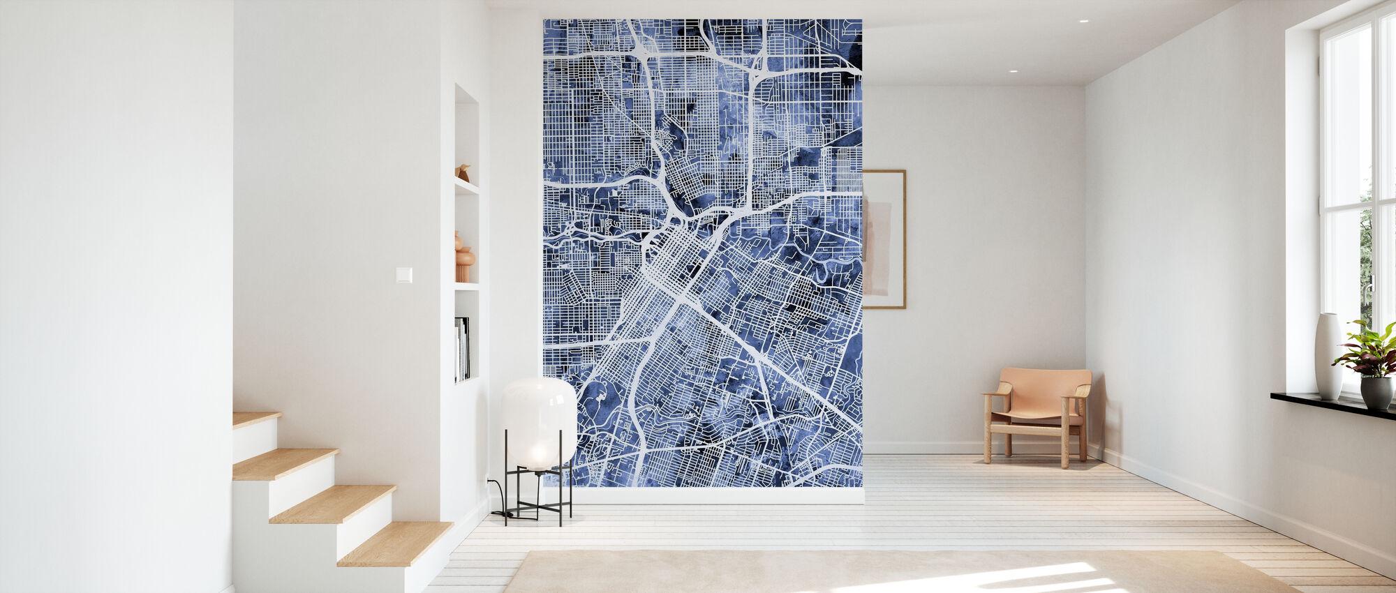 Houston Texas City Street Map - Wallpaper - Hallway