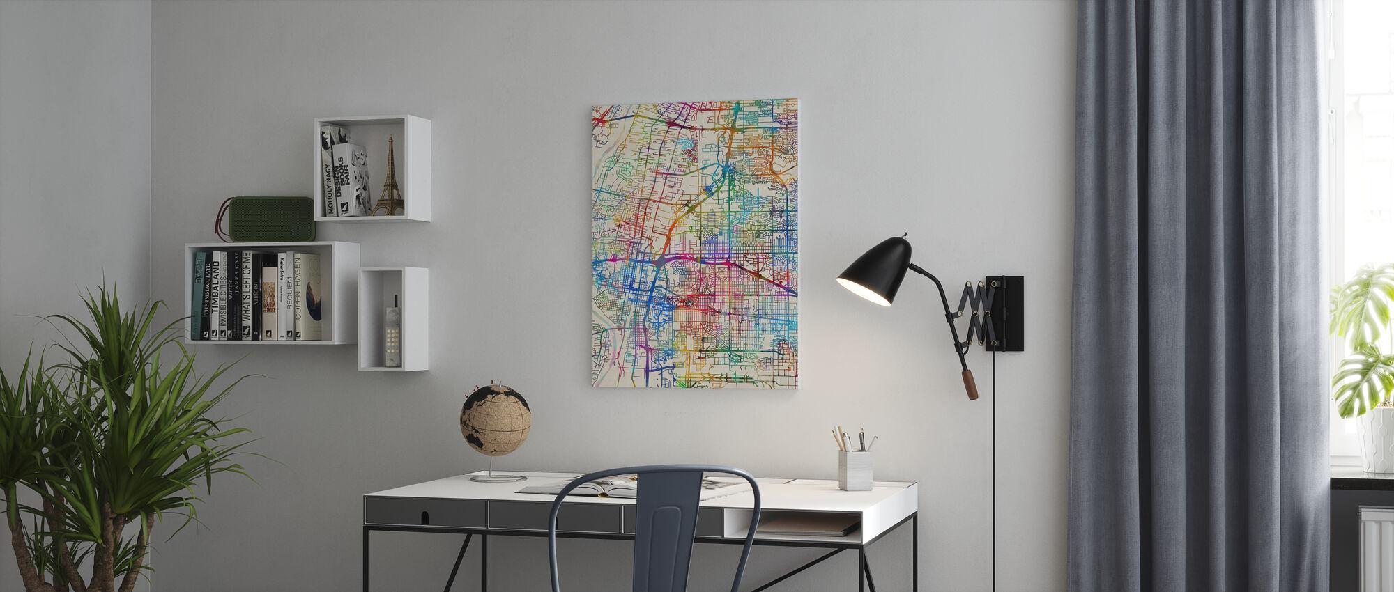 Albuquerque Nouveau-Mexique Street Map - Impression sur toile - Bureau