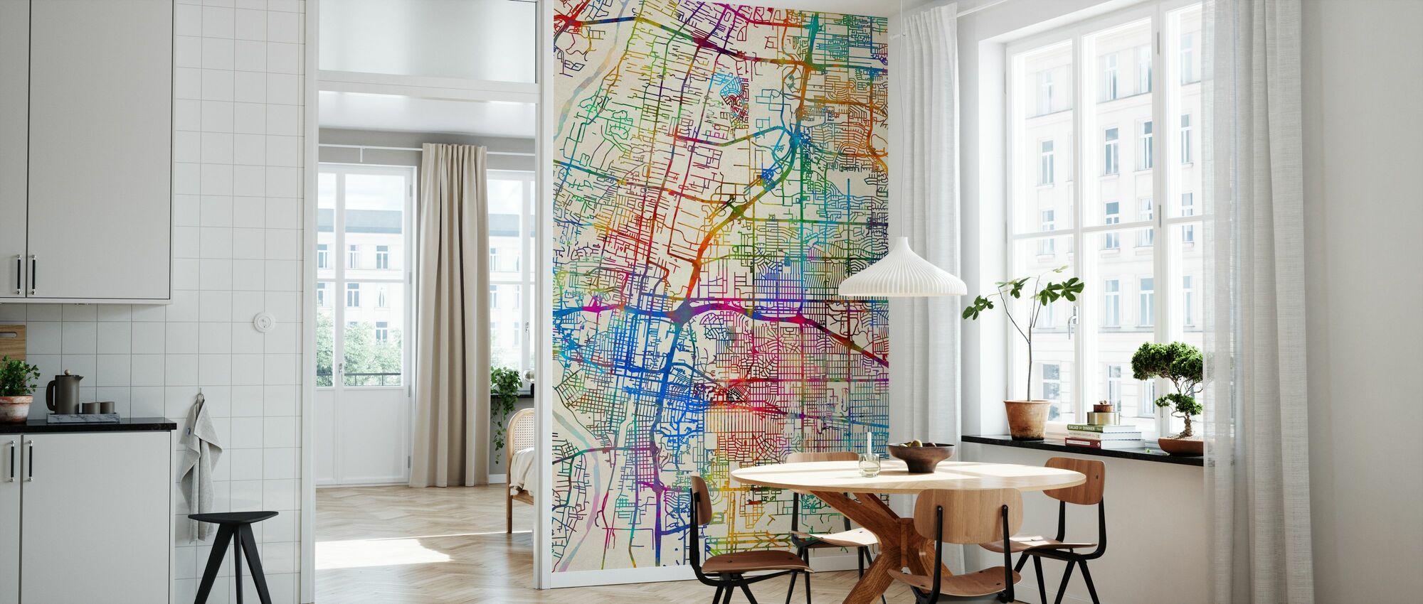 Albuquerque New Mexico City Street Map - Wallpaper - Kitchen