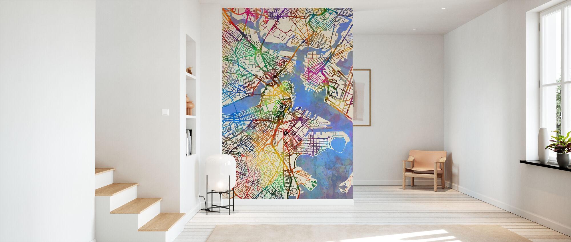 Boston Massachusetts Street Kartta - Tapetti - Aula