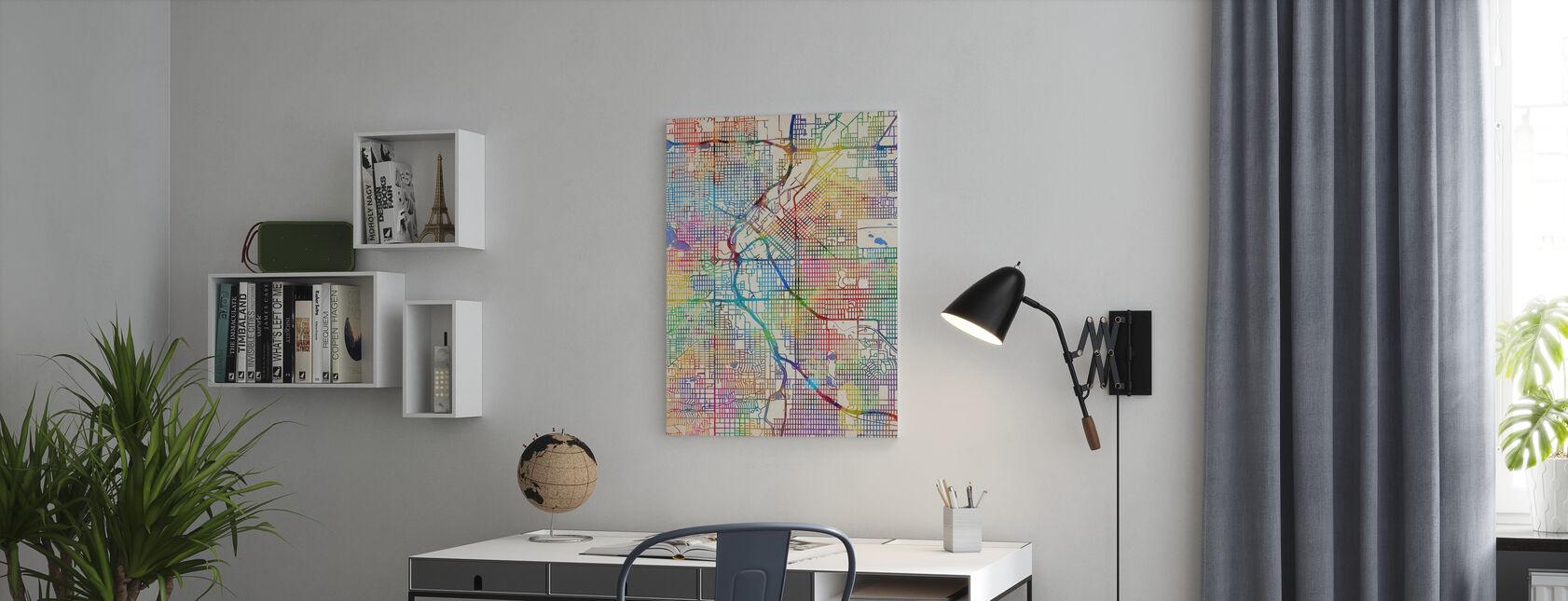 Denver Colorado Street Map - Canvas print - Office