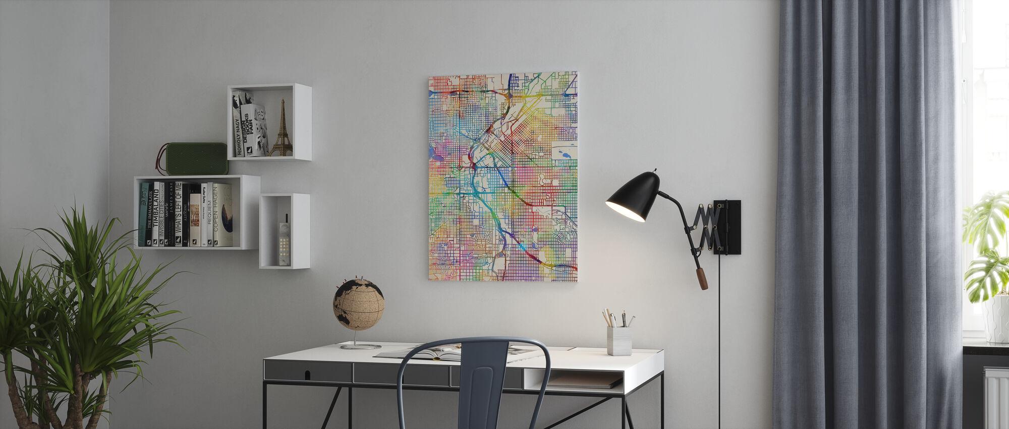 Denver Colorado Street Mapa - Obraz na płótnie - Biuro