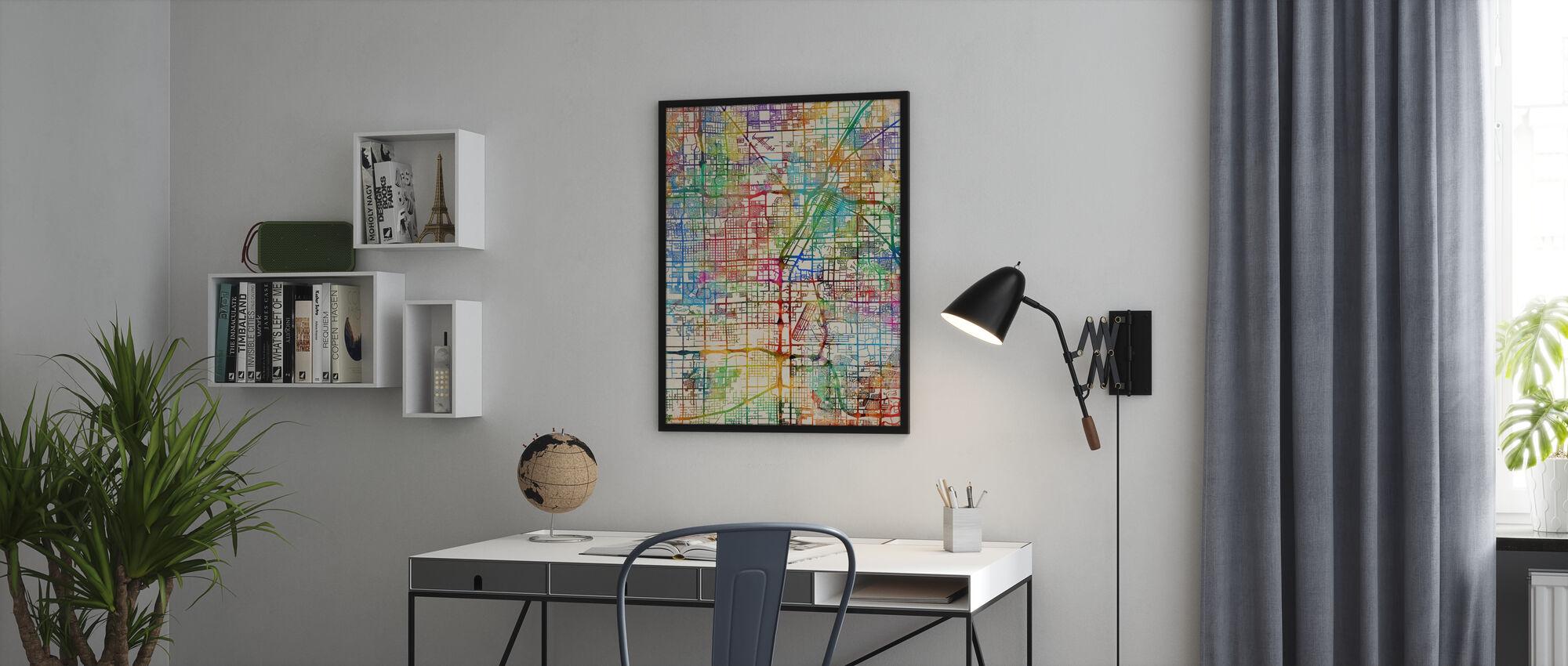 Las Vegas City Street Map - Poster - Office