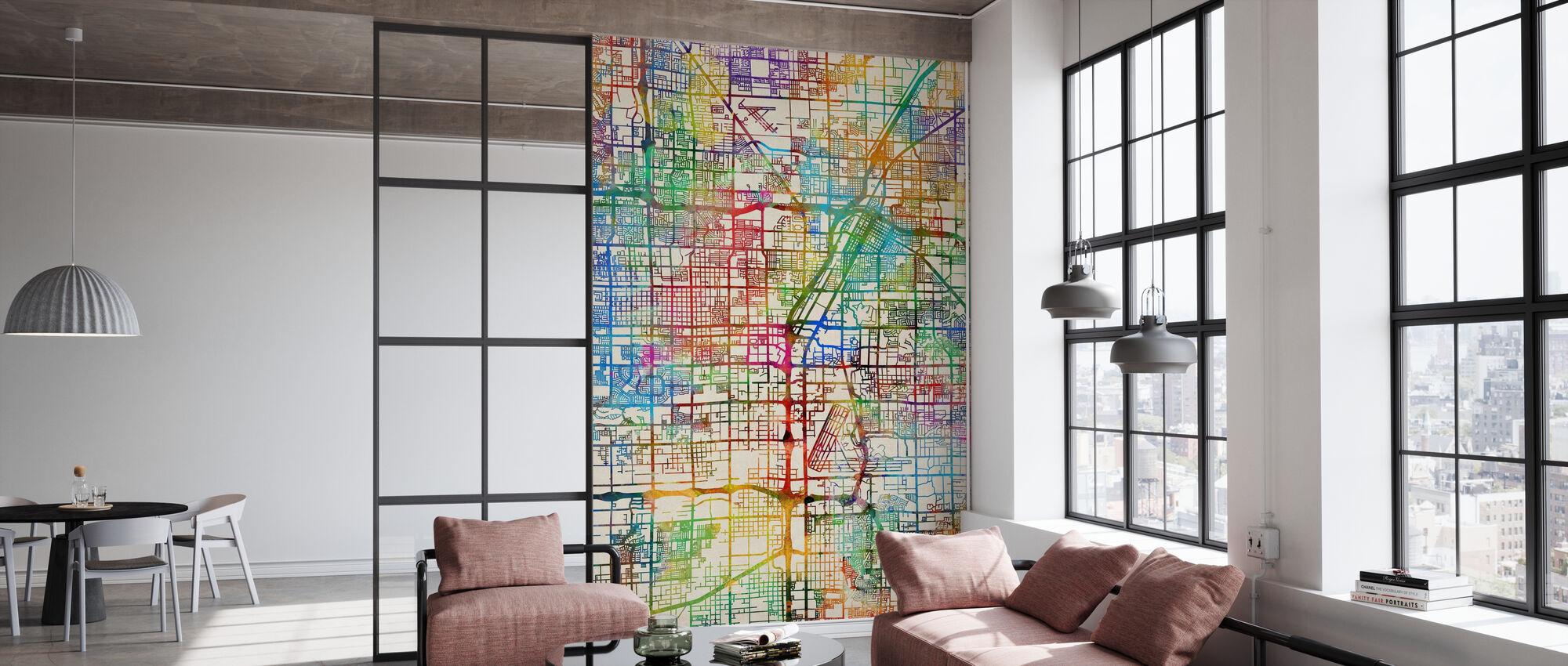 Las Vegas City Street Map - Wallpaper - Office