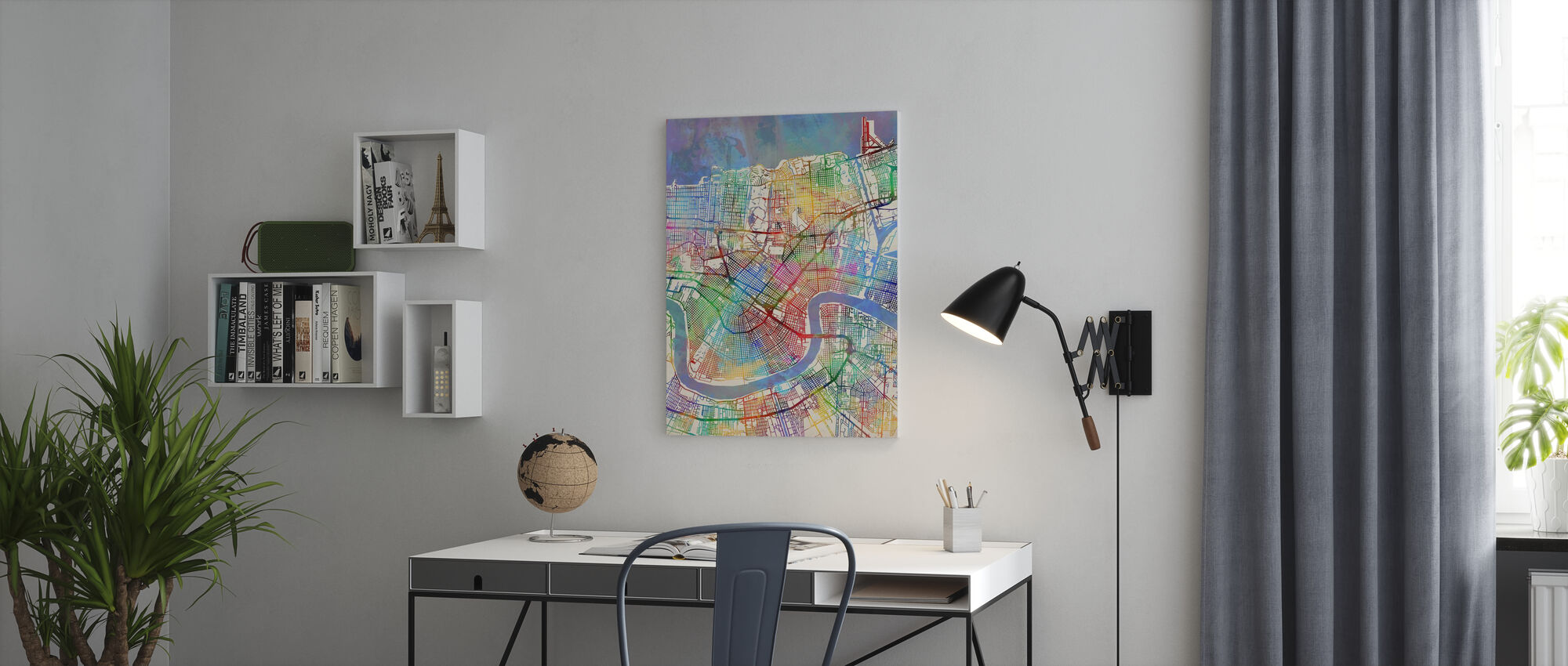 New Orleans Street Map - Canvas print - Office