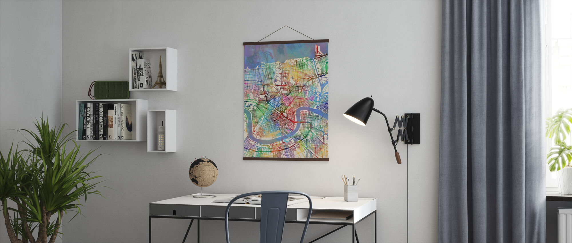 New Orleans Street Map - Poster - Office