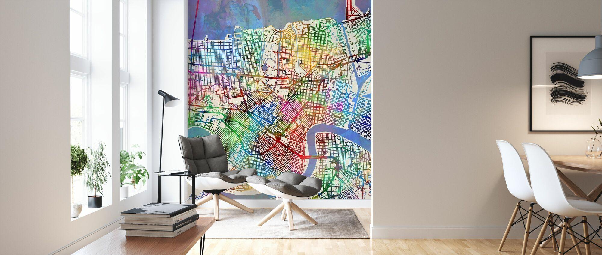 New Orleans Street Map - Wallpaper - Living Room
