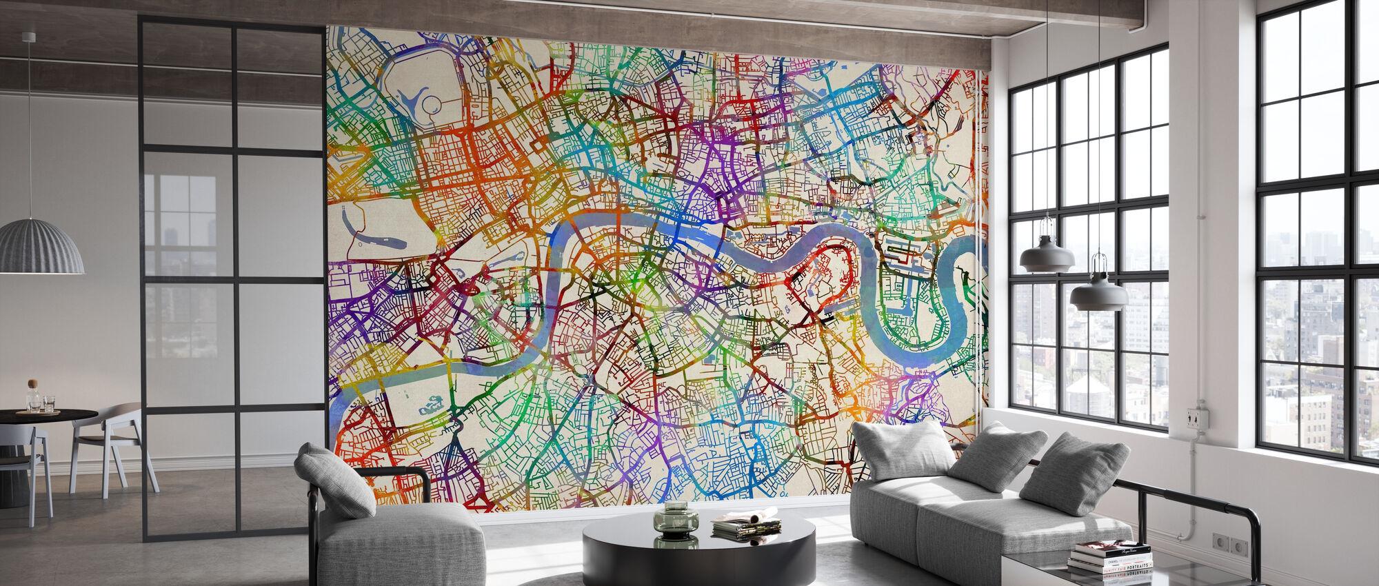 London England Street Map - Wallpaper - Office