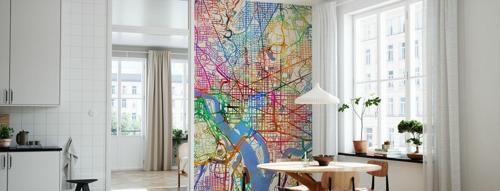 Washington DC Street Map - Wallpaper - Kitchen
