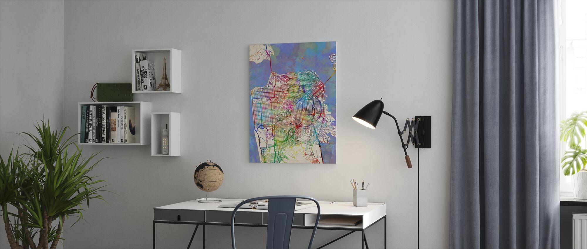 San Francisco City Street Map - Canvas print - Office