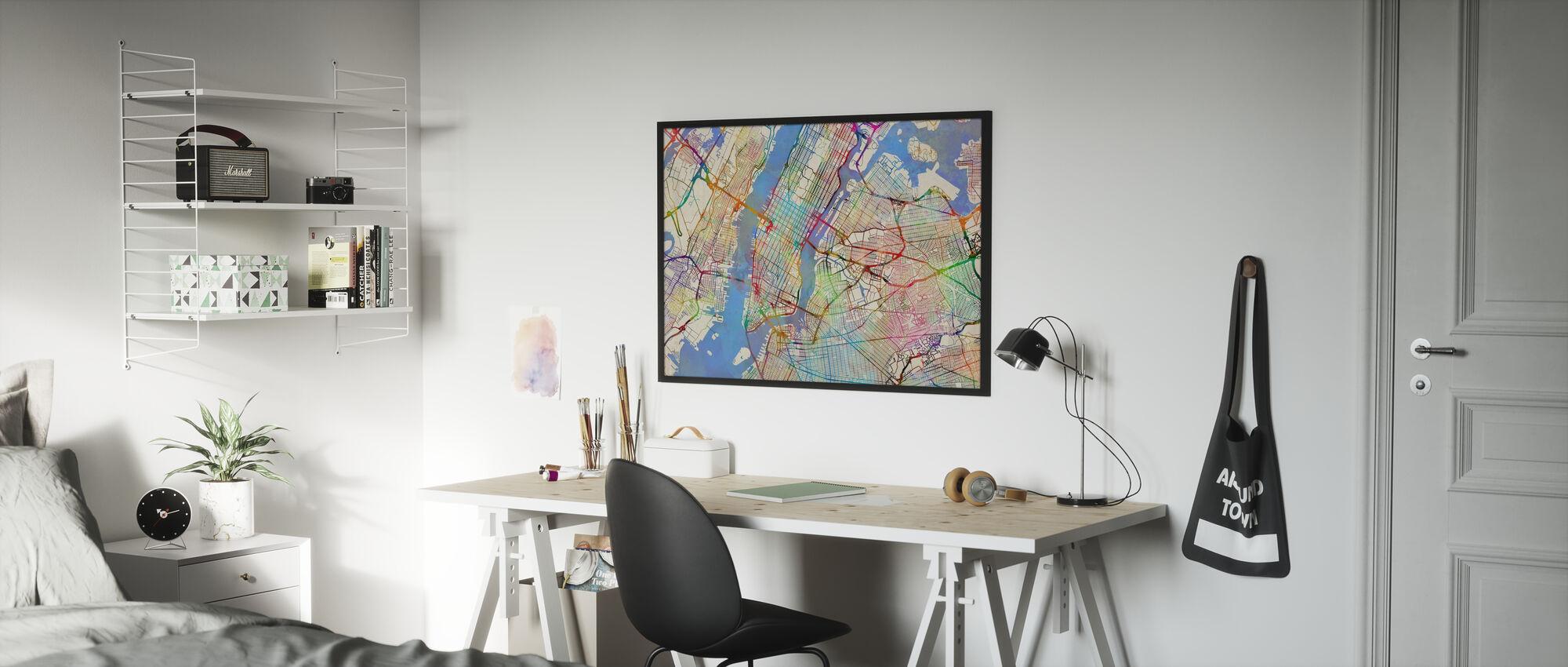 New York City Street Map - Poster - Kids Room