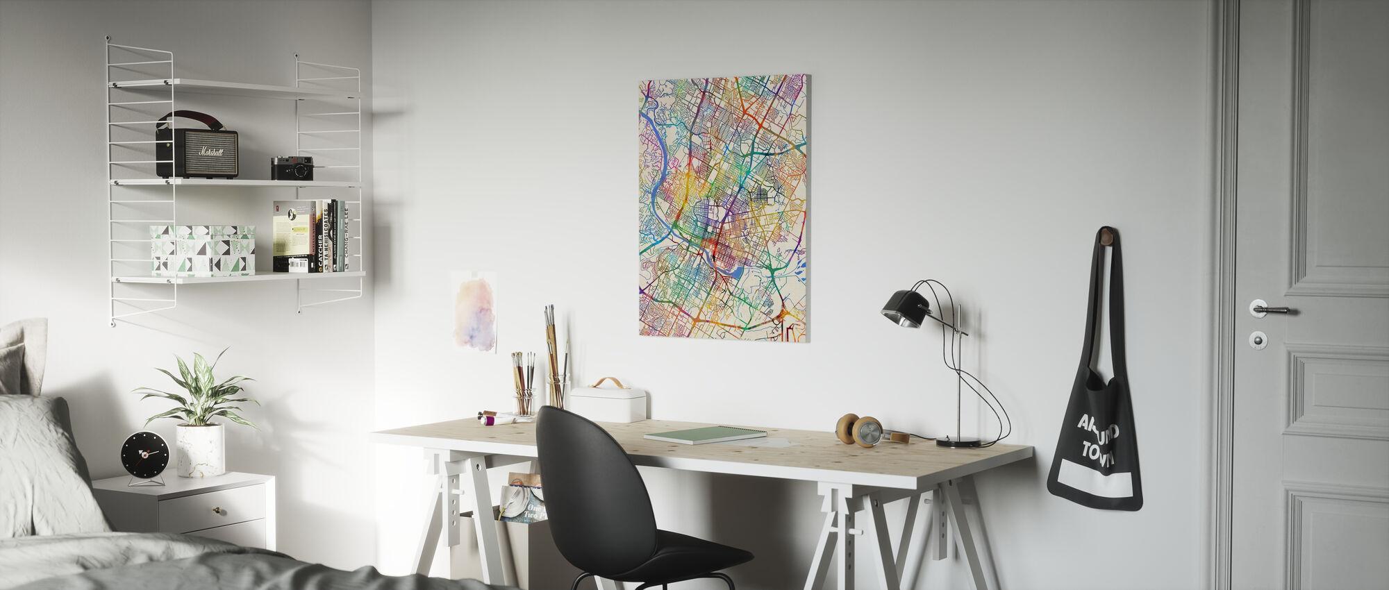 Austin Texas City Map - Canvas print - Kids Room