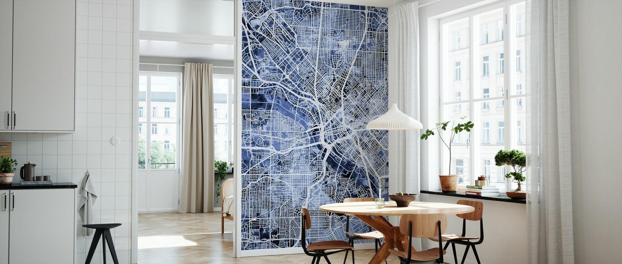 Dallas Texas City Map - Wallpaper - Kitchen