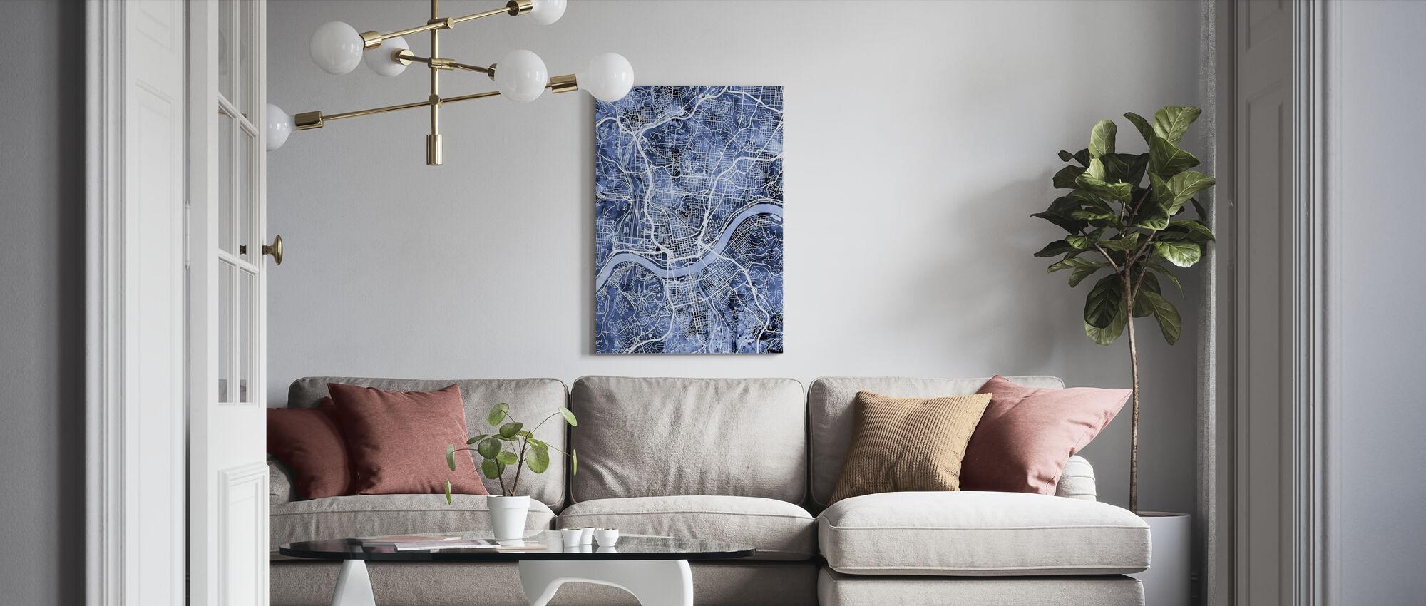 Cincinnati Ohio City Map - Canvas print - Living Room