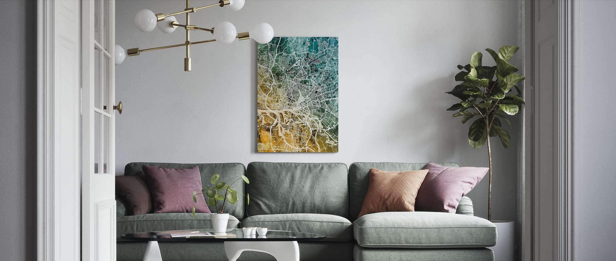 Hamburg Duitsland City Kaart - Canvas print - Woonkamer