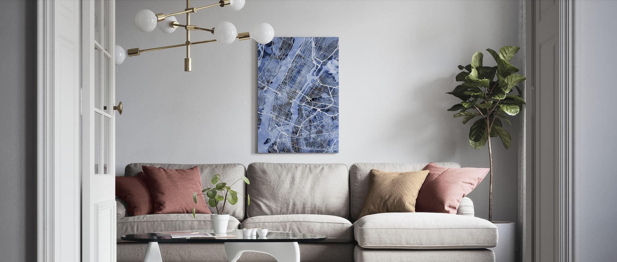 New York City Street Map - Canvas print - Living Room