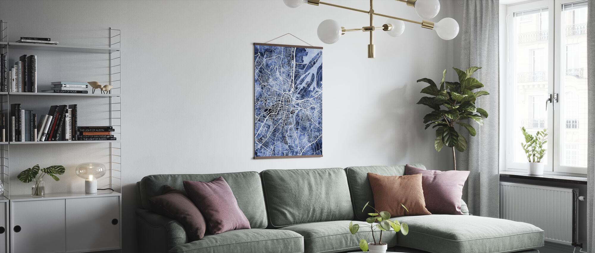 Belfast Northern Ireland City Map - Poster - Living Room