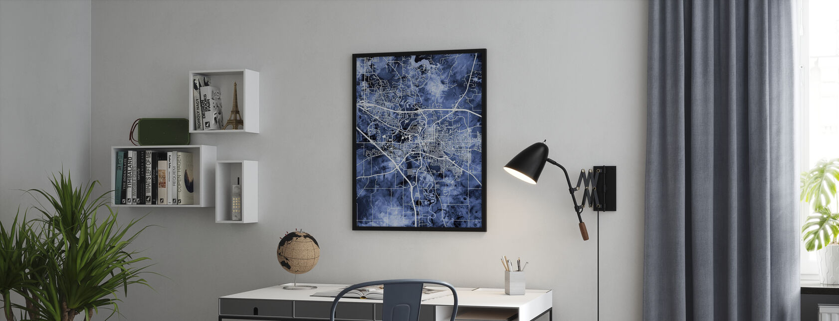 Iowa City Map - Poster - Office