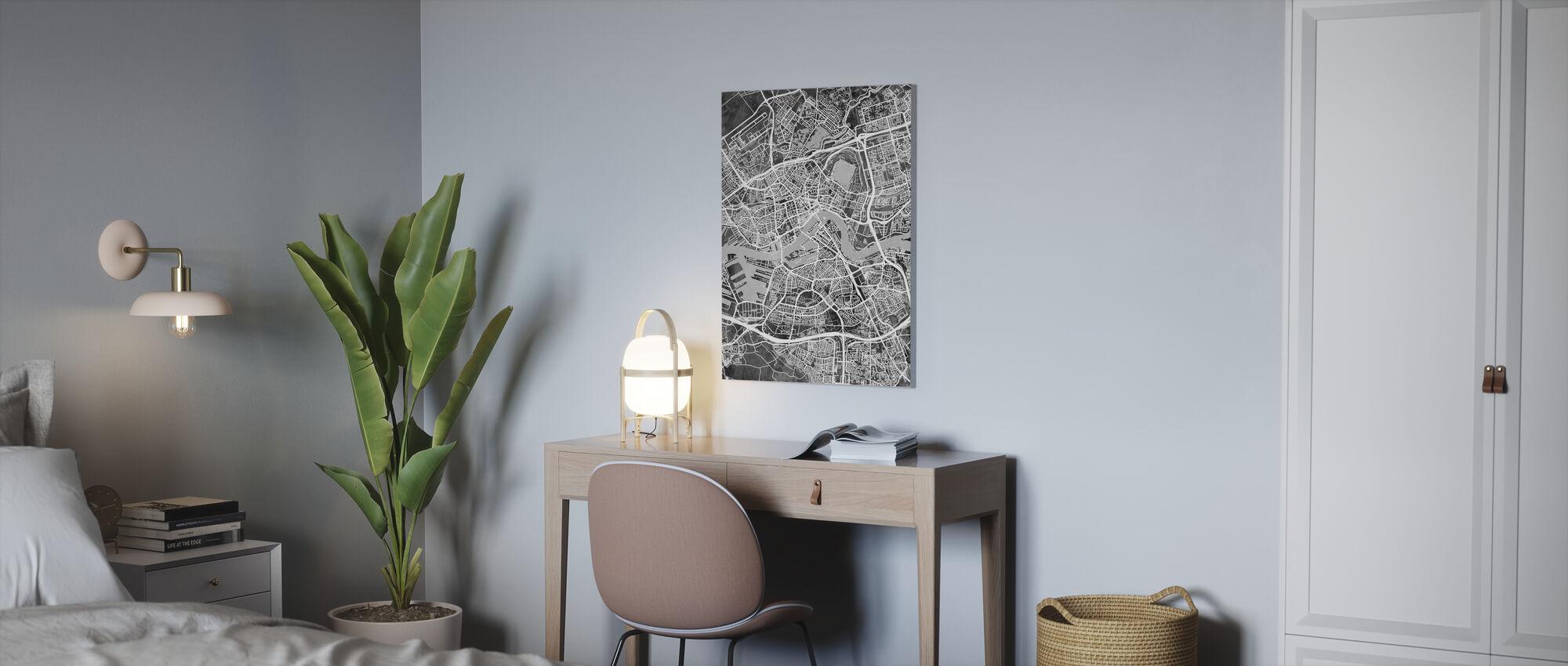 Rotterdam Niederlande Stadtplan - Leinwandbild - Büro