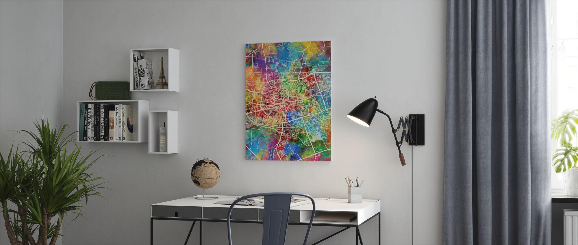 Stadtplan von Leeuwarden Niederlande - Leinwandbild - Büro