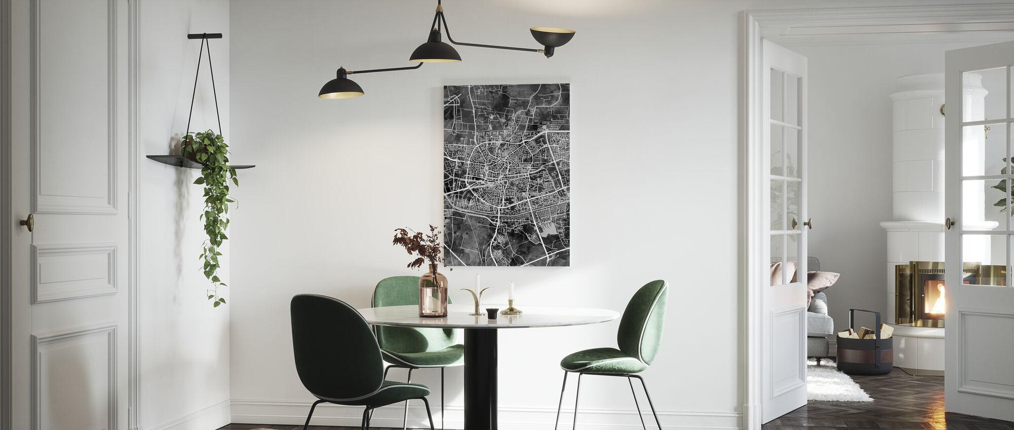 Stadtplan von Leeuwarden Niederlande - Leinwandbild - Küchen