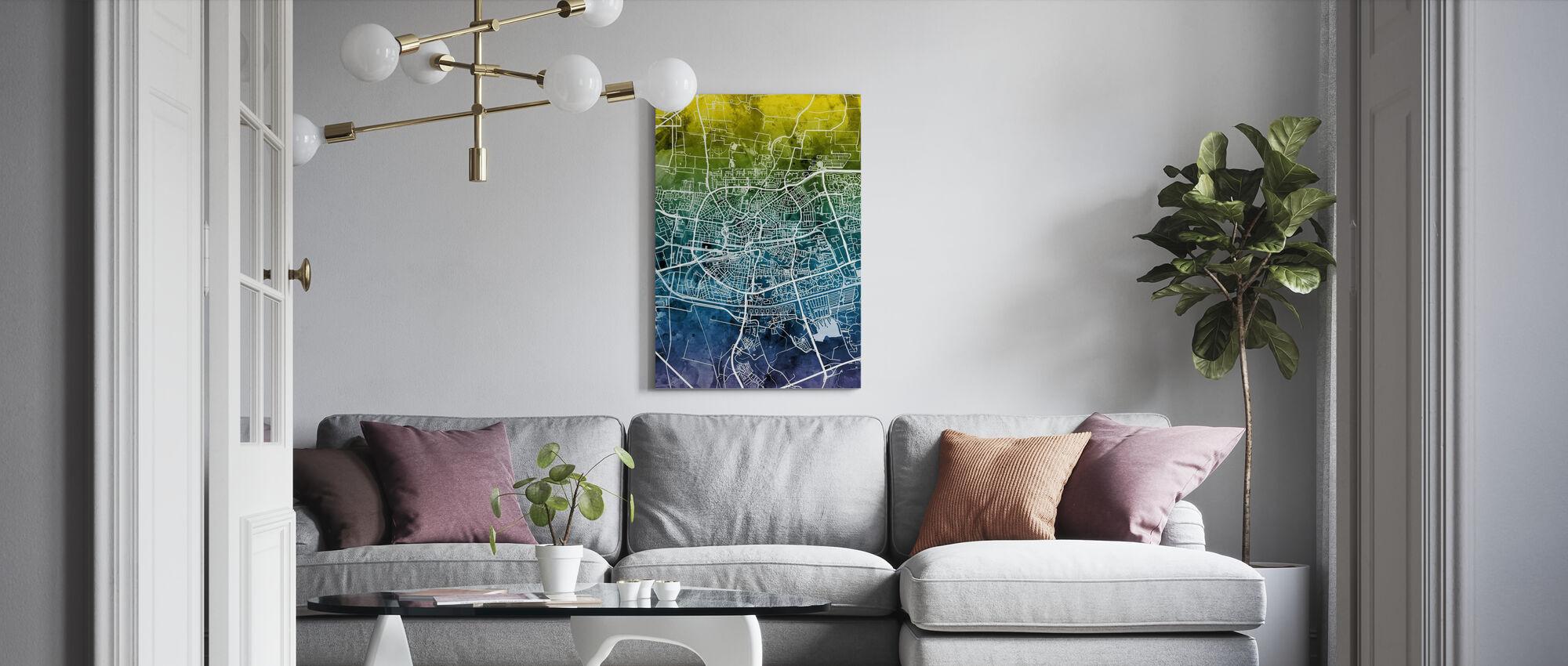 Stadtplan von Leeuwarden Niederlande - Leinwandbild - Wohnzimmer