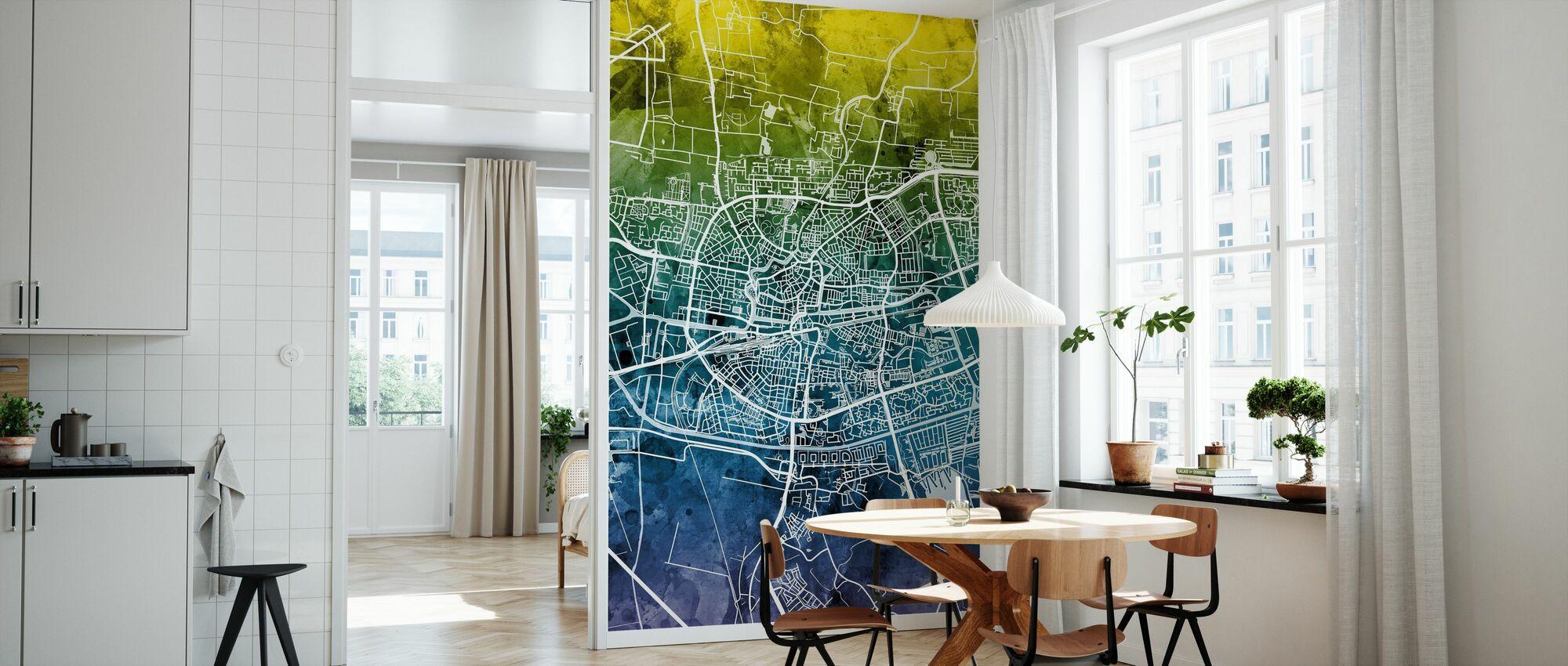 Leeuwarden Nederland City Kort - Tapet - Kjøkken