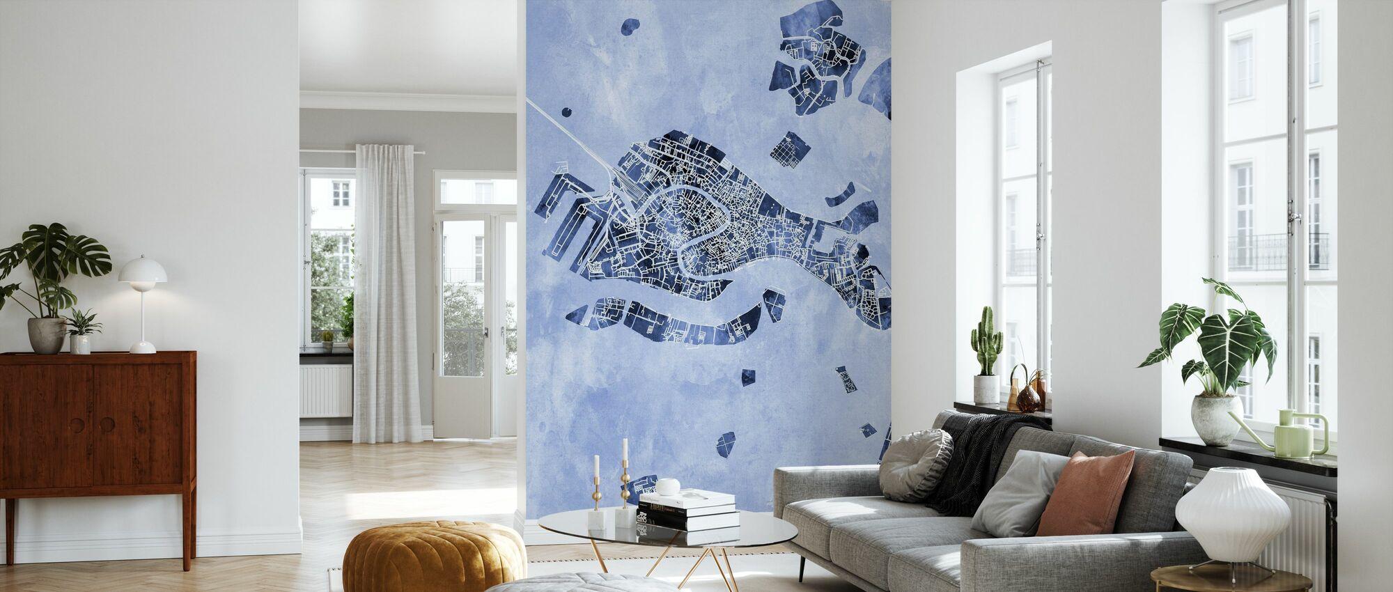 Venice Italy City Map - Wallpaper - Living Room