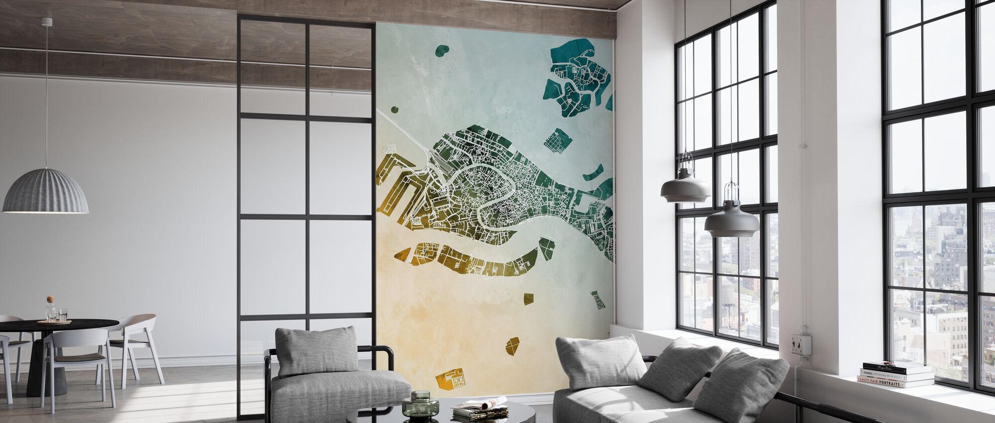 Venice Italy City Map - Wallpaper - Office