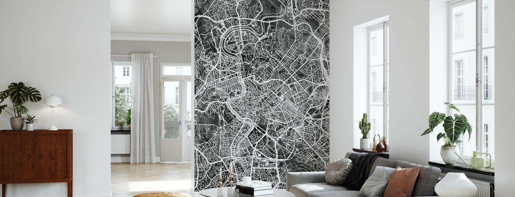 Roma Italia Mappa della città - Carta da parati - Salotto