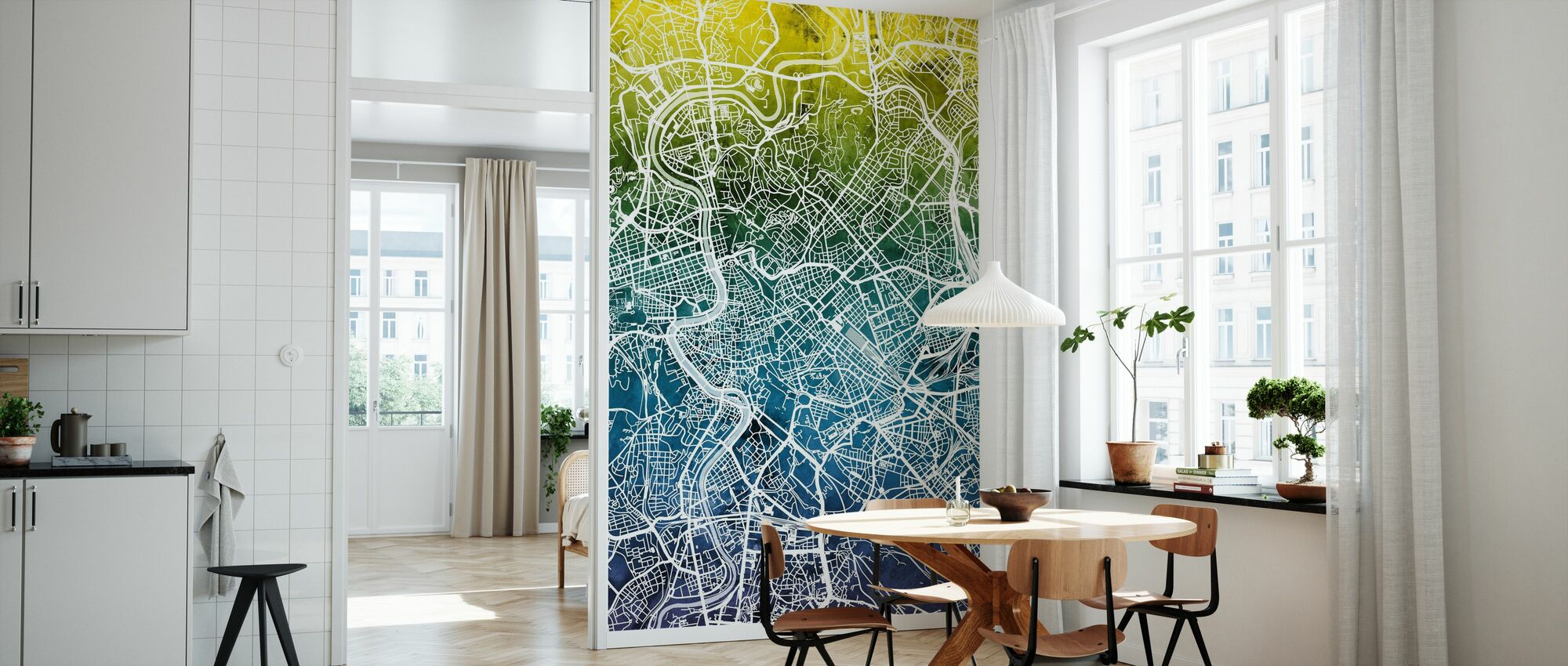 Rome Italy City Map - Wallpaper - Kitchen