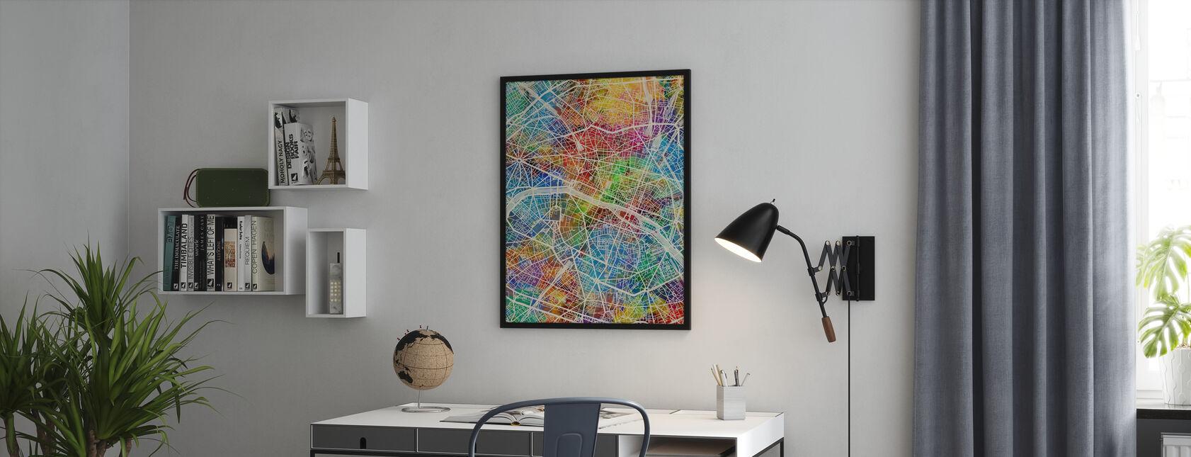 Paris France City Map - Poster - Office