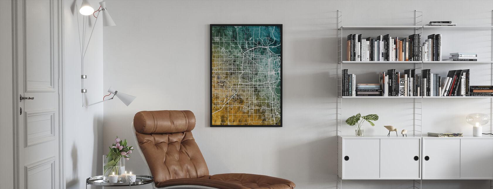 Omaha Nebraska City Kort - Plakat - Stue