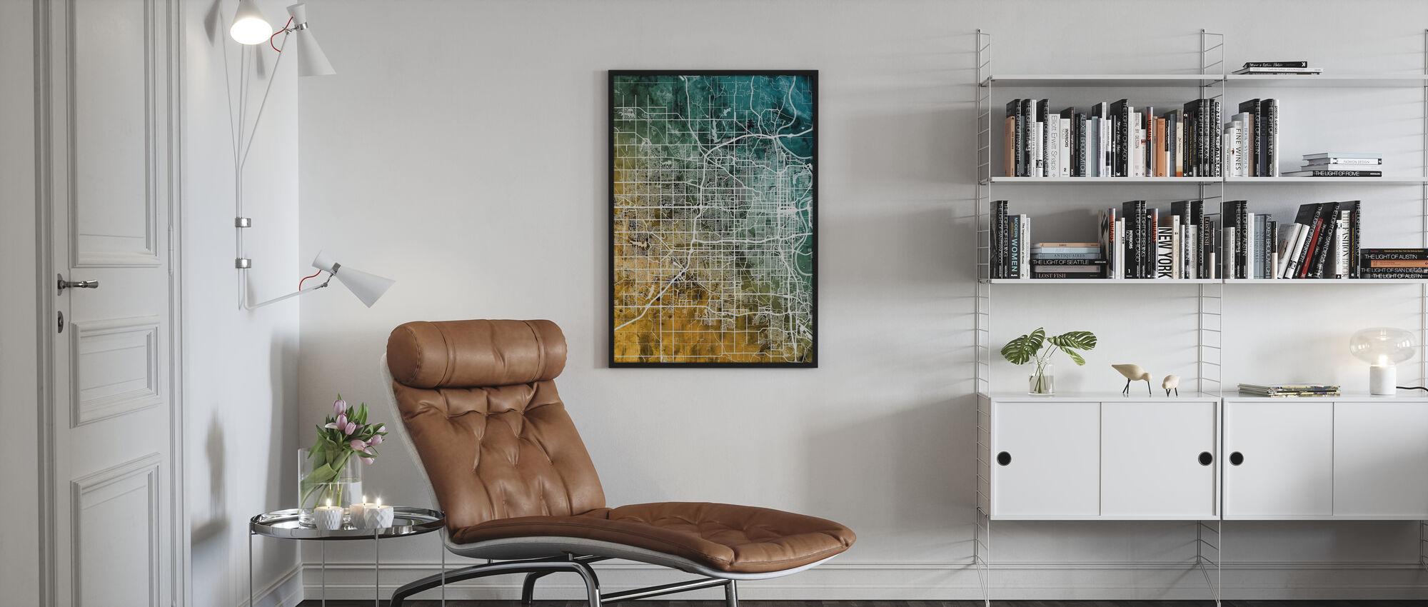 Omaha Nebraska City Map - Poster - Living Room