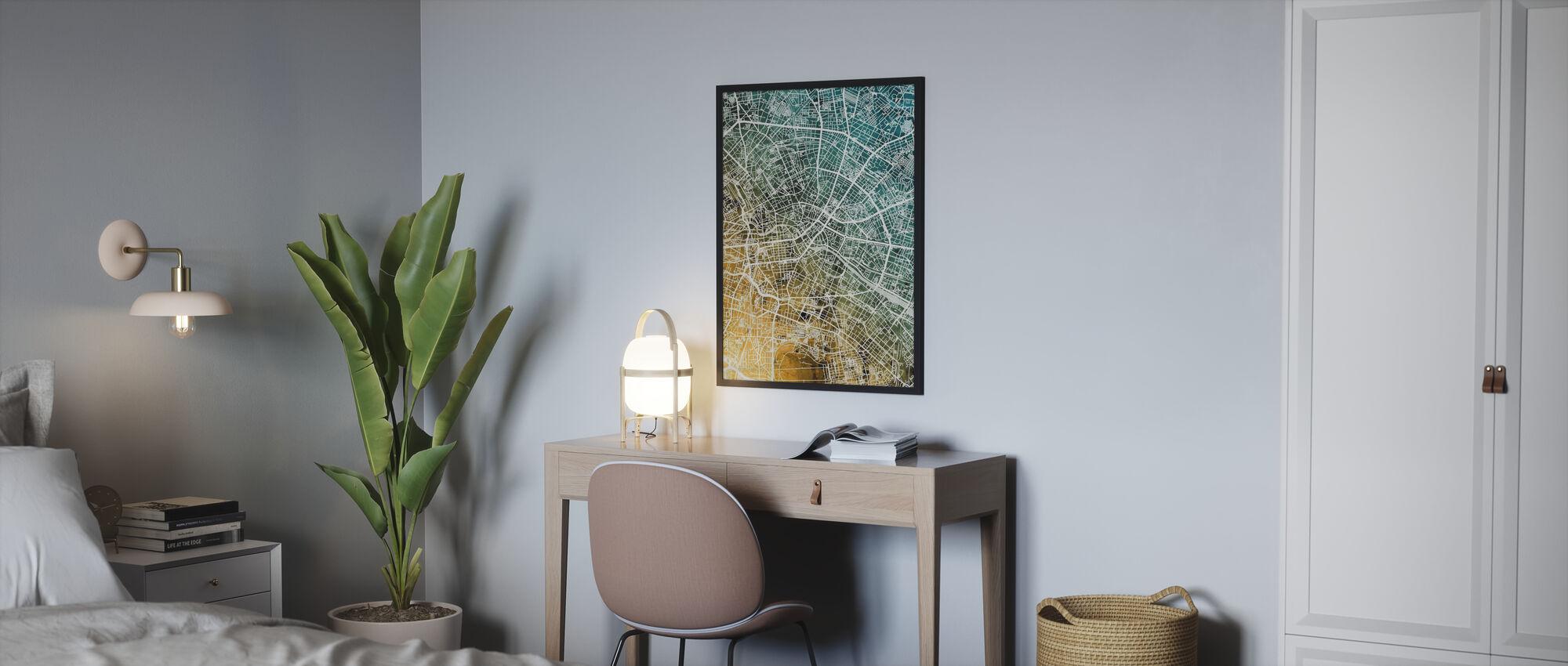 Berlin Allemagne Carte de la ville - Affiche - Chambre