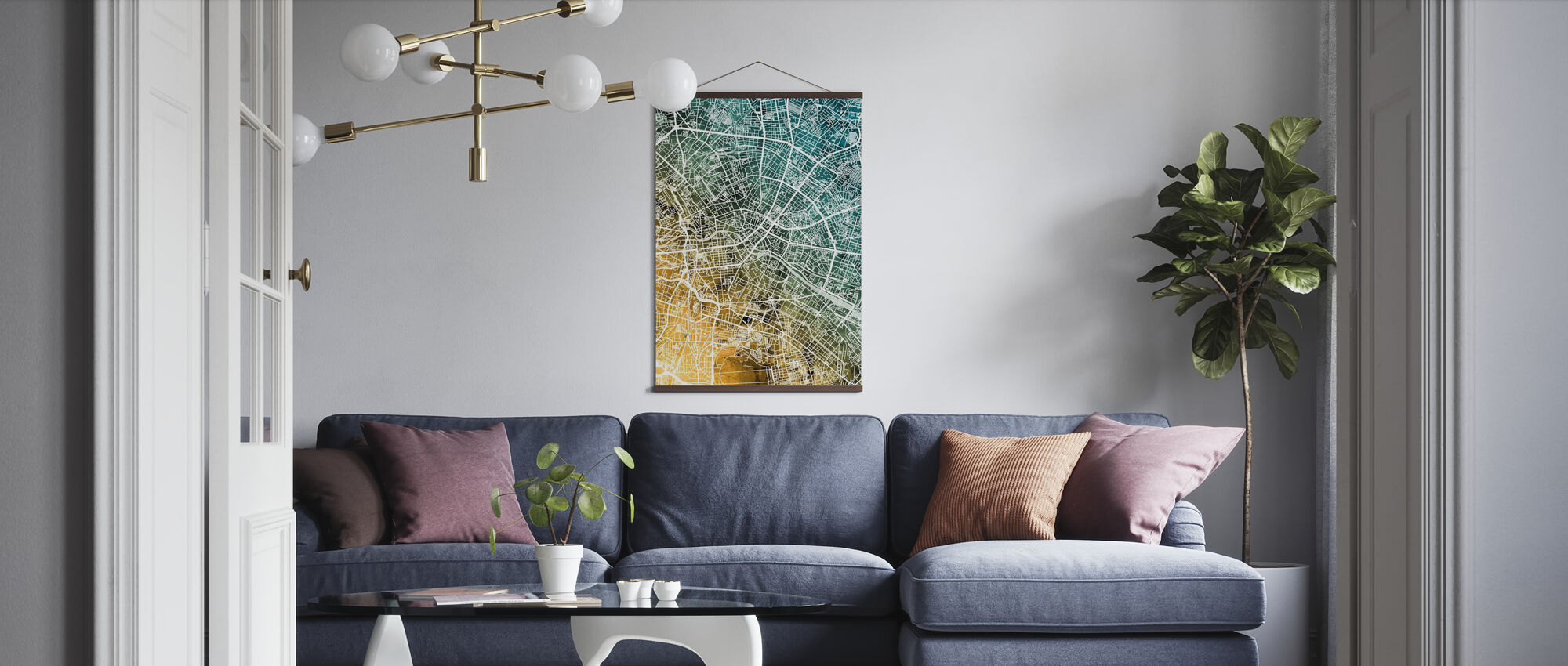 Berlin Germany City Map - Poster - Living Room