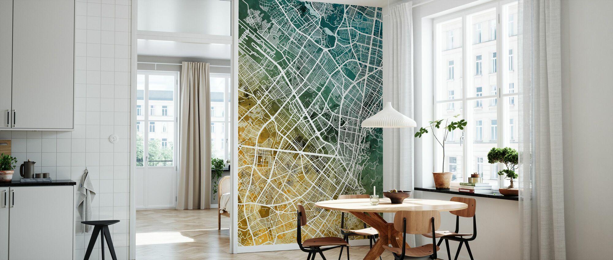 Bogota Colombia City Map - Wallpaper - Kitchen