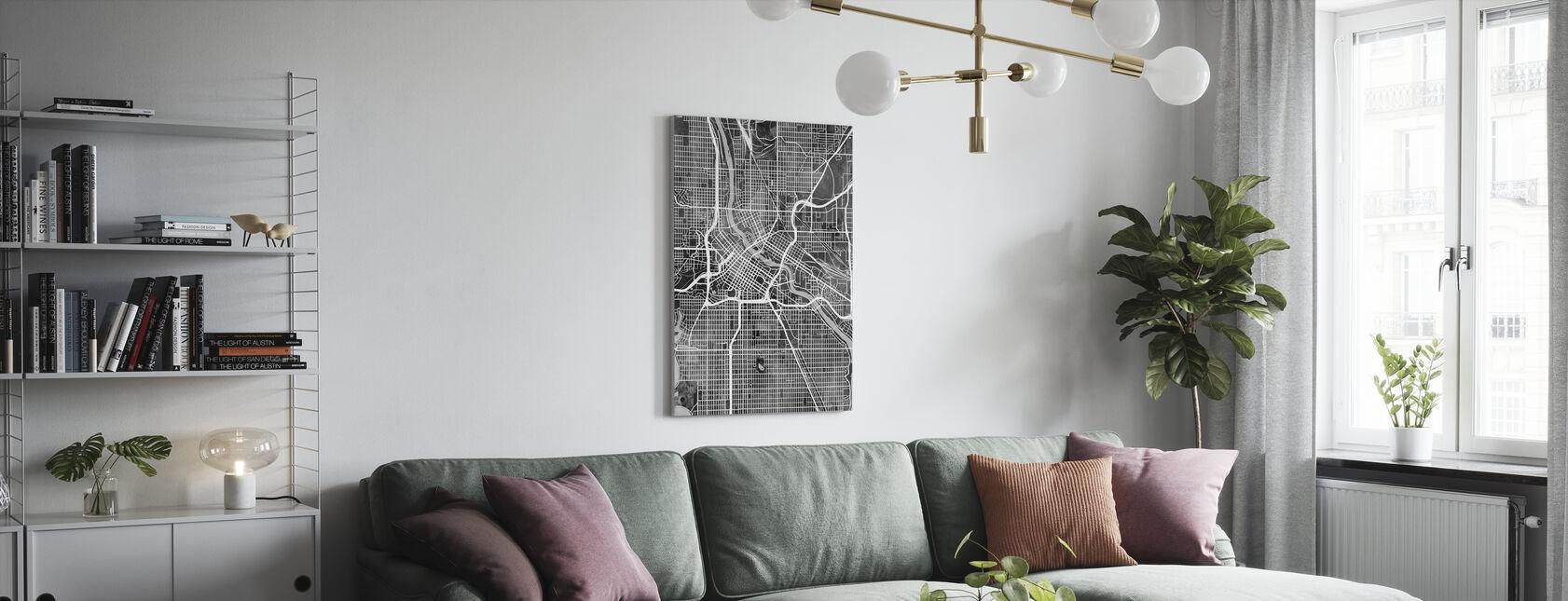 Minneapolis Minnesota City Kaart - Canvas print - Woonkamer