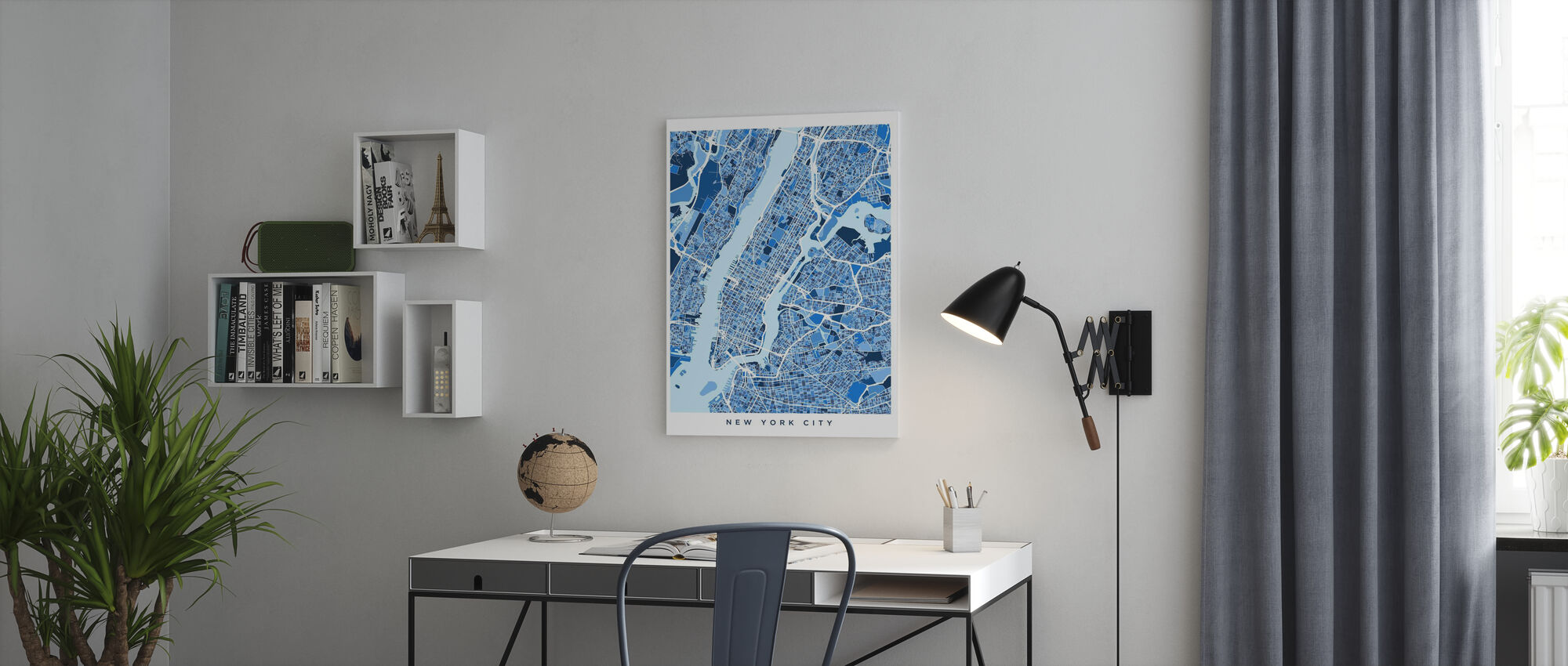 New York City Street Map - Canvas print - Office