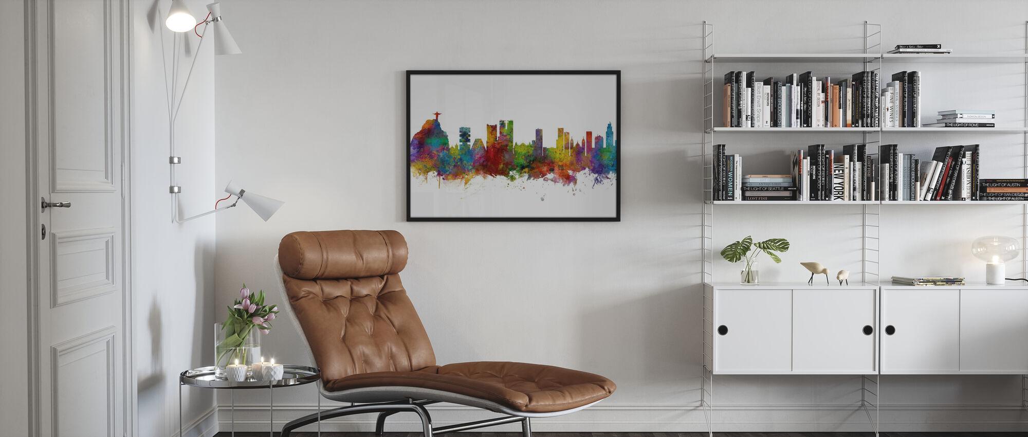 Rio de Janeiro Skyline Brazil - Framed print - Living Room