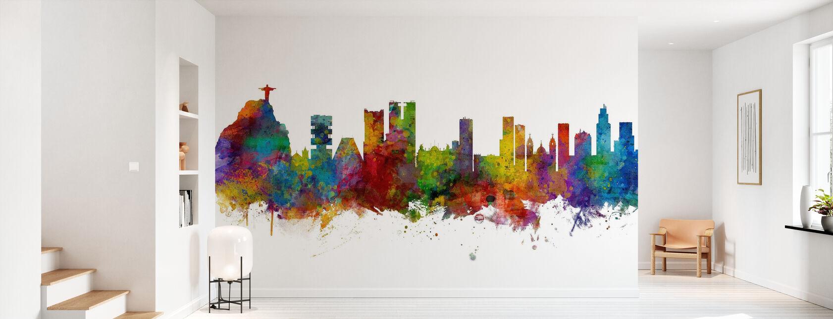 Rio de Janeiro Skyline Brazil - Papier peint - Entrée