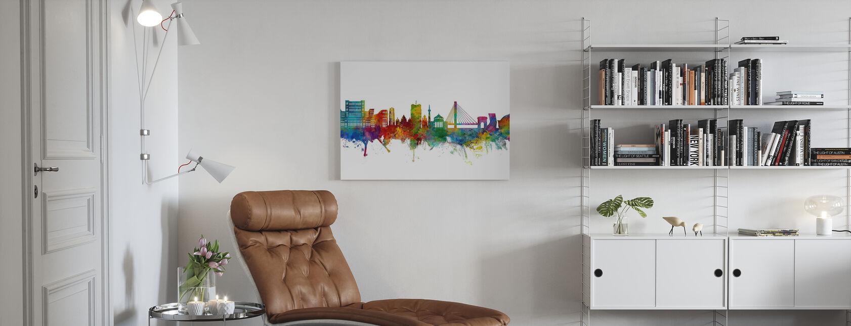 Bucharest Romania Skyline - Canvas print - Living Room