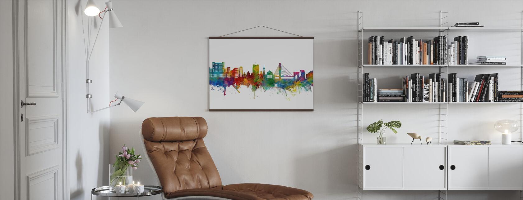 Bucharest Romania Skyline - Poster - Living Room