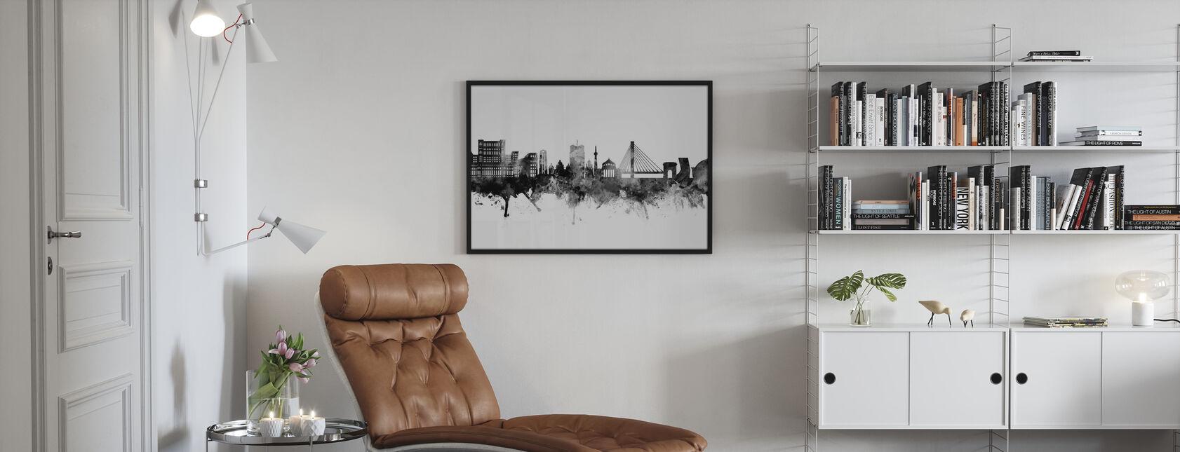 Bucharest Romania Skyline - Framed print - Living Room