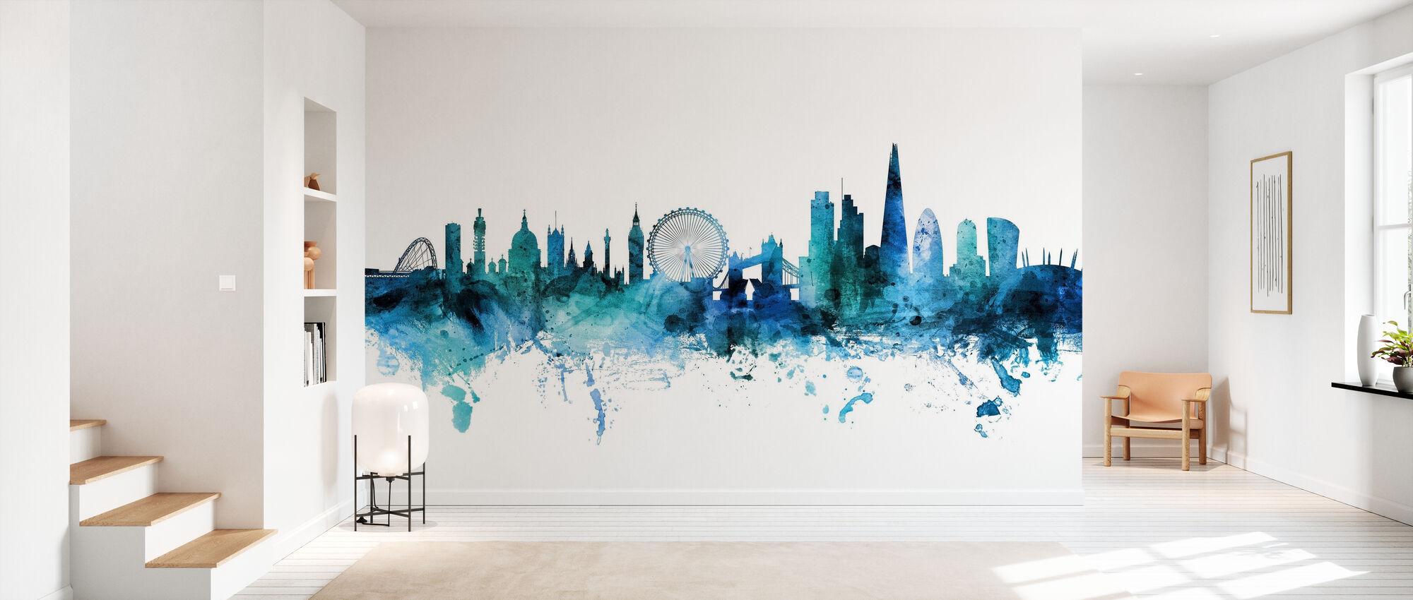 London England Skyline - Wallpaper - Hallway