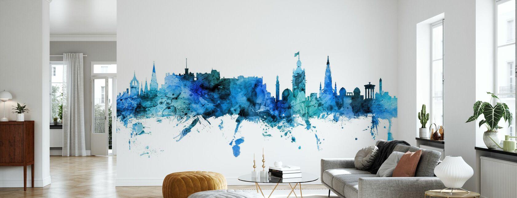 Edinburgh Scotland Skyline - Wallpaper - Living Room