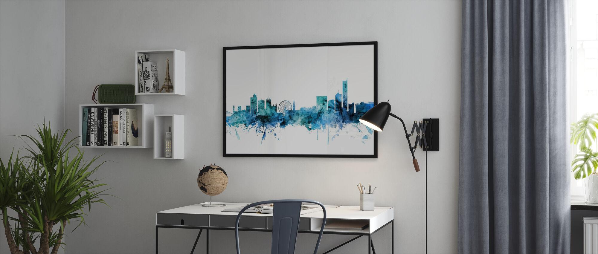 Manchester England Skyline - Inramad tavla - Kontor