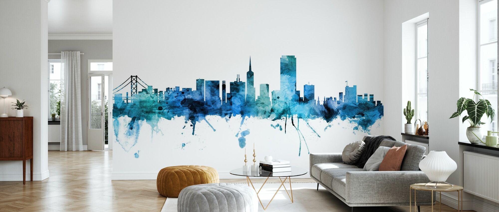 San Francisco California Skyline - Wallpaper - Living Room