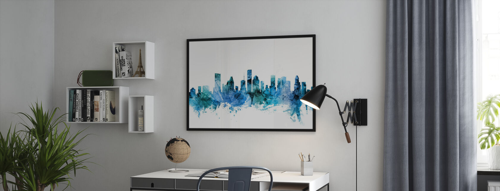 Houston Texas Skyline - Plakat - Kontor
